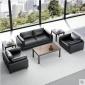 办公室沙发茶几组合 高端商务会客沙发 洽谈接待沙发简约现代仿皮